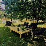 Loungeplek zwembad - Domaine du Bonheur